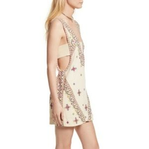 Free People Never Been embroidered dress